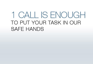 1 call is enough to put your task in our safe hands